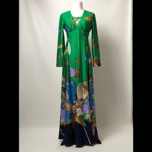 VINTAGE 70s TORI RICHARD HONOLULU MAXI DRESS